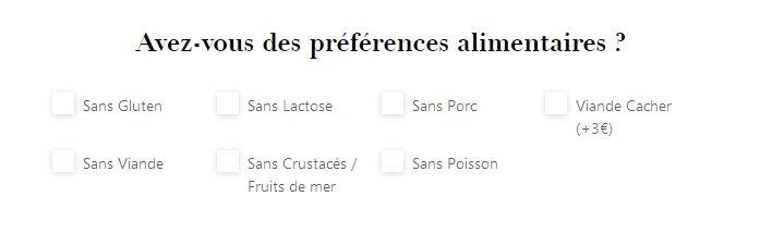 choix des aliments du panier repas